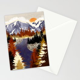 Autumn River Stationery Cards