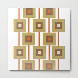 Retro Squares Print Metal Print