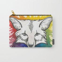 Rainbow Fox Spirit Carry-All Pouch