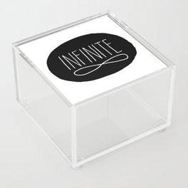 Infinite Black and White Typographic Design Acrylic Box