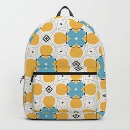 Berkley blue x energetic yellow pattern Backpack