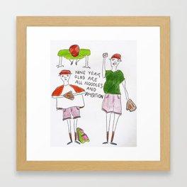Nine Year Olds Framed Art Print