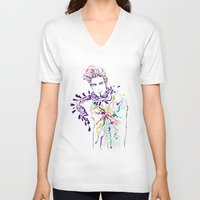 chill V-neck T-shirts featuring Chill by Sarah Soh