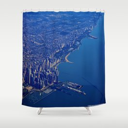 Chicago By Air No. 1: The Lakeshore from Downtown to Evanston Shower Curtain