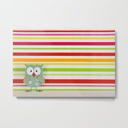 Colorful owl Metal Print