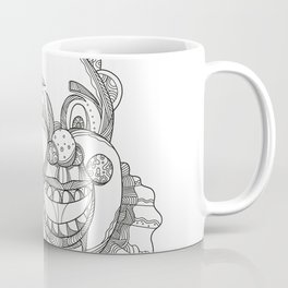 Vintage Circus Clown Head Doodle Coffee Mug