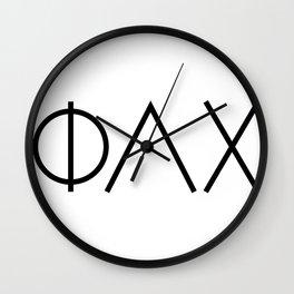 Modern Phi Lambda Chi Letters Wall Clock