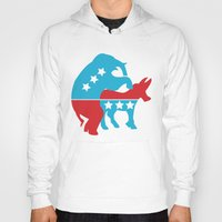 politics Hoodies featuring Politics by Mike Stark