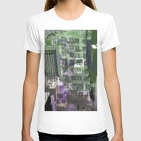 houston T-shirts featuring Downtown Houston by TheBigBear