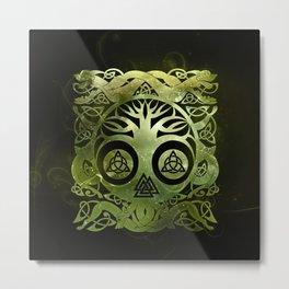Tree of life - Yggdrasil  and celtic animals Metal Print