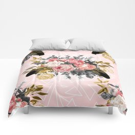 Romantic vintage roses and geometric design Comforters
