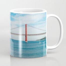 25 de Abril Bridge In Lisbon, Wall Art Print, Modern Architecture Art, Poster Decor, Large Printable Coffee Mug