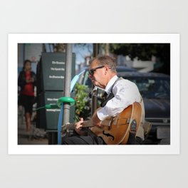 North Beach Sidewalk Tunes Art Print