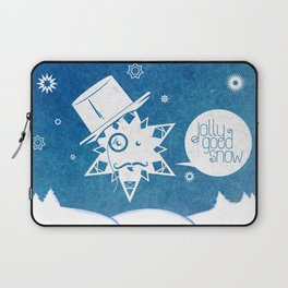 Jolly Good Snow Laptop Sleeve
