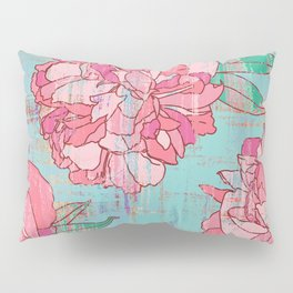 Pink roses, floral print in pastels Pillow Sham