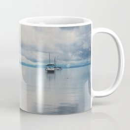 boat reflections in the water print ...  Coffee Mug