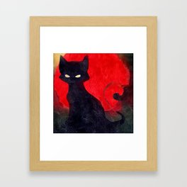 Cat Noir Framed Art Print