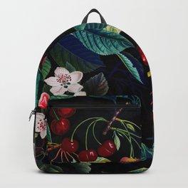 Vintage & Shabby Chic - Sakura Cherry Blossoms Botanical Night Garden Backpack