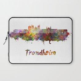 Trondheim skyline in watercolor Laptop Sleeve