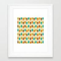 popsicle Framed Art Prints featuring Popsicle by Liz Urso