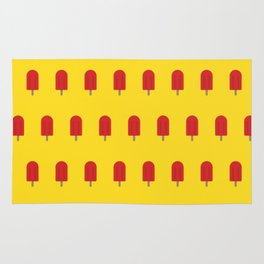 Red Popsicles - Yellow Background Rug