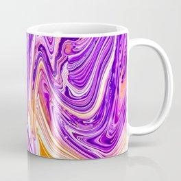 Purple Groovy Swirl Pattern Coffee Mug
