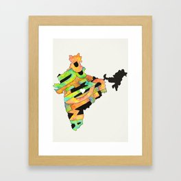 Prem Sewa Indian Outline by Carli Framed Art Print