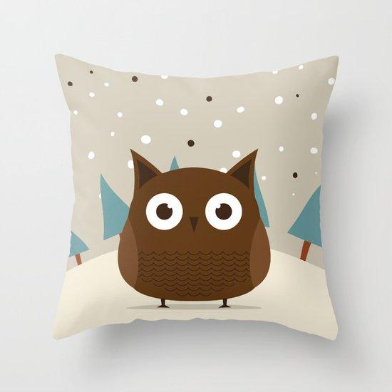 Cute owl Throw Pillow