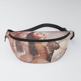 Beautiful asian girl with beauty face digital painting Fanny Pack