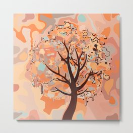 Multicolor Abstract Tree Metal Print