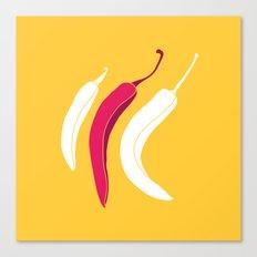 simply chillies // Pop Art Canvas Print