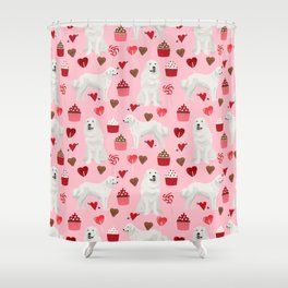 Great Pyrenees dog breed valentines day gifts for dog lover unique dog breeds valentine Shower Curtain