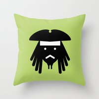 sparrow Throw Pillows featuring sparrow by atipo