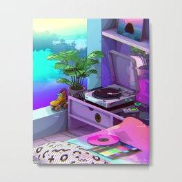 Vaporwave Aesthetic Metal Print
