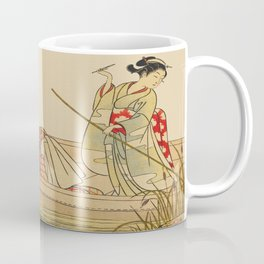 Women Gathering Lotus Blossoms Coffee Mug