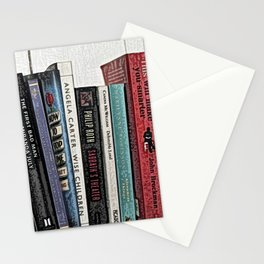 Book shelf love- we are what we read Stationery Cards