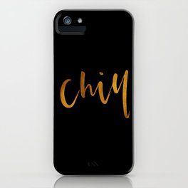 Chill in Gold and Black iPhone Case