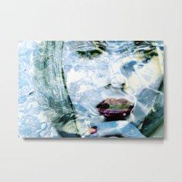 Scarlett Johansson Portrait - Water Reflections Series Metal Print