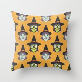 Good Witch VS Bad Witch (Patterns Please) Throw Pillow