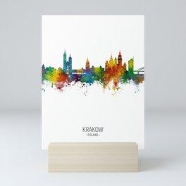 Krakow Poland Skyline Mini Art Print
