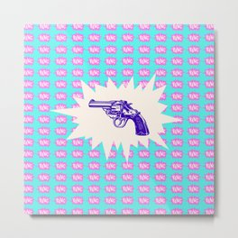 Purple Gun Metal Print