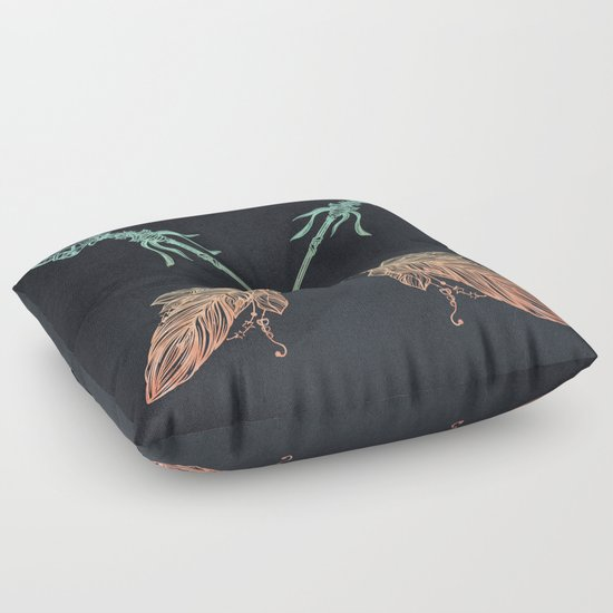 Arrows Turquoise Coral on Navy Floor Pillow by Nature Magick Society6