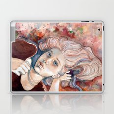 Listen with your eyes open - watercolor Laptop & iPad Skin