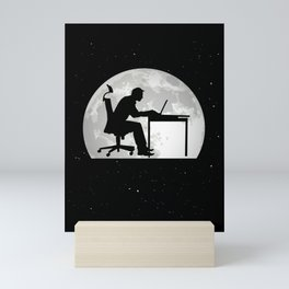 Computer Scientist Moon Programmer Nerd Mini Art Print