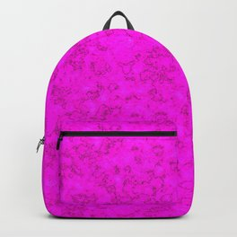 Marble , neon pink Backpack