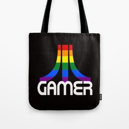 Retro Rainbow Gamer Tote Bag
