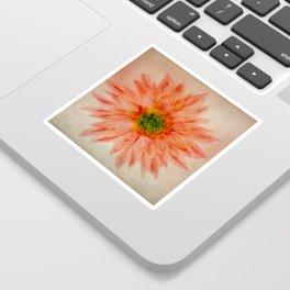 salmon flower Sticker