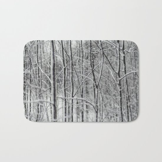 Frosted Forest Bath Mat