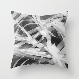 White paper stripes Throw Pillow