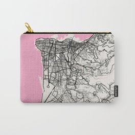 Beirut - Lebanon Neapolitan City Map Carry-All Pouch
